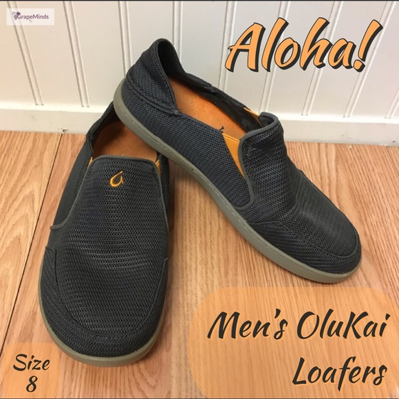 1f7d13b6b899 Men s OluKai Nohea Mesh Dark Shadow Gray Loafers 8.  M 5bd882f903087c6e90213312